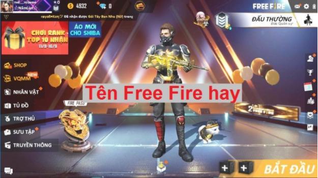Tên Free Fire hay